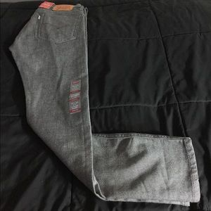 LEVIS 519 EXTREME SKINNY BLACK/GRAY STRETCH JEANS